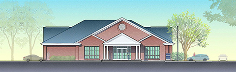 Artist's rendering of AnMed Health Pendleton Family Medicine