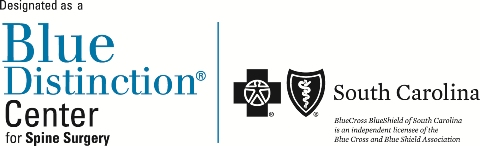 AnMed Health is designated as a Blue Distinction Center for Spine Surgery by BlueCross BlueShield of South Carolina