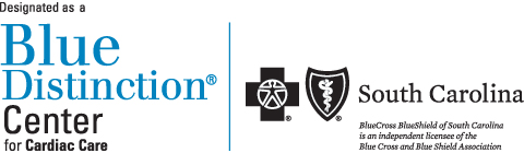 AnMed Health is designated as a Blue Distinction Center for Cardiac Care by BlueCross BlueShield of South Carolina