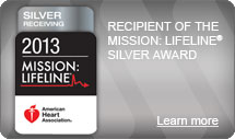 AnMed Health received the AHA's Mission: Lifeline Silver Quality Achievement Award for heart attack care in 2013